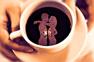 Рисунок на кофе для гадания