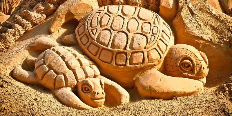 Образы, символы животных из песчинок