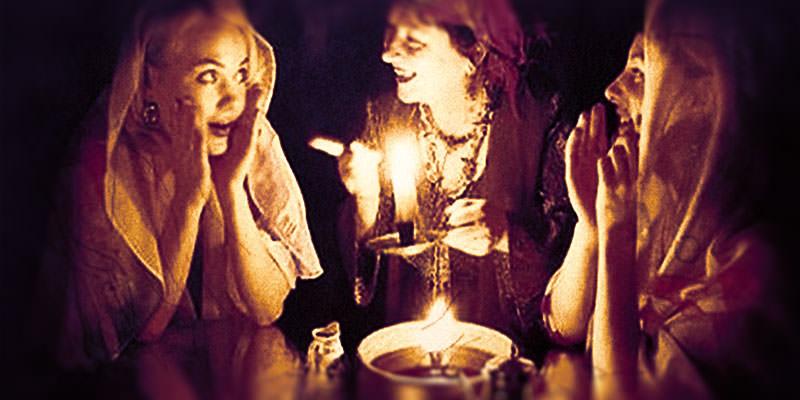 Девушки ночью: гадания на замужество