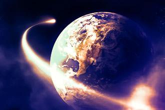 Комета летит вокруг Земли